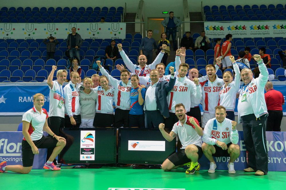Сборная России побадминтону завоевала «бронзу» наЧемпионате мира среди студентов